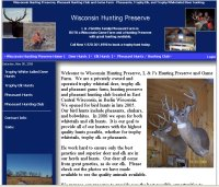 Wisconsin Hunting Preserve - Elk, Deer and Pheasant hunting preserve and game farm.